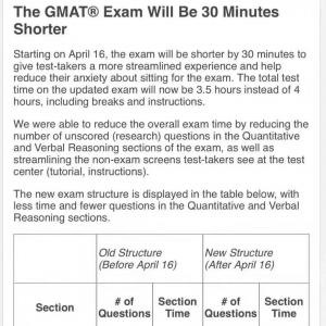 2018年4月16日开始GMAT考试时间缩短