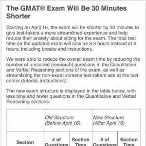 GMAT官方发布4月16日开始将进行重大改革