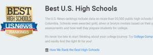2018USnews美国高中排名