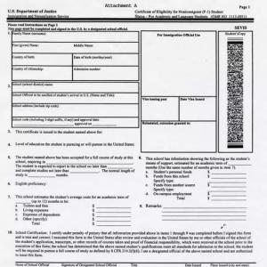 美国留学F签的办理流程