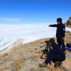在美国南极科考站遇见了中国科考站队员